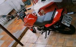 Vendo moto factor125 2014 completa ou troco por outra maior