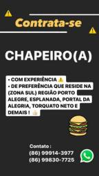 VAGA PARA CHAPEIRO(A)
