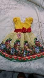 Vestido tematico personagem Magali tam 4