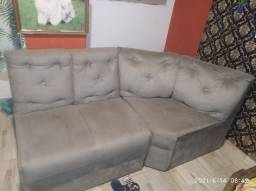 Vendo sofá usado cinza