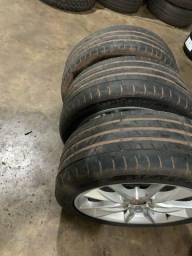 3 pneus usados