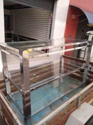 Balcão de vidro para loja  - R$499