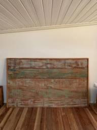 Título do anúncio: Cabeceira cama queen em madeira de demolição