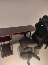Kit gamer novo - cadeira gamer e mesa gamer