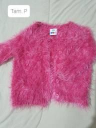 Casaco rosa peluciado