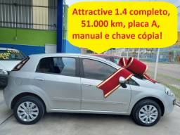 Título do anúncio: Fiat Punto Attractive 1.4 completo, 51.000 km, placa A,novíssimo!