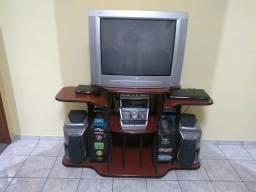 Rack + tv 29 polegadas + conversor digital