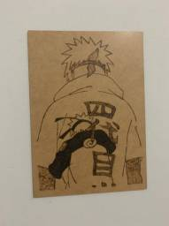 Quadro Pirografado Minato Namikaze (Naruto)