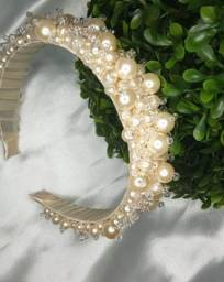 Tiara de luxo / tiara Juliete/ tiara perolas
