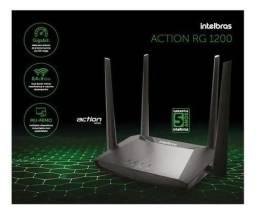 Título do anúncio: Roteador Wireless Intelbras Action RG 1200 Gigabit Dual Band AC1200 Mbps 4 Antenas - Preto