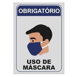 PLACA USO OBRIGATÓRIO DE MÁSCARA