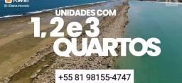 Título do anúncio: #Li - Flats à Beira Mar - Entrada à partir de 10%