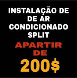 Título do anúncio: Instalação de ar condicionado..