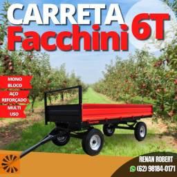 Carreta Agricola MultiUso Facchini 6 Toneladas s/pneus