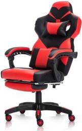 Cadeira gamer com apoio de pé