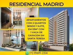 Madrid, 2 quartos em 53m² com 1 vaga de garagem em Santa Teresa - Imperdível