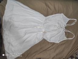 Vestido branco Aquamar Tamanho P