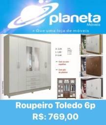 Título do anúncio: ROUPEIRO TOLEDO 6P // AQUÁRIO