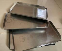Formas de inox e alumínio diversas