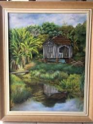 Título do anúncio: Lindo Quadro - arte em tela - pintura à óleo Lechner 2003.