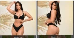 Biquini Aro V Decote Com Bojo Tendencia Promoção  Moda Feminina Verão Praia Piscina
