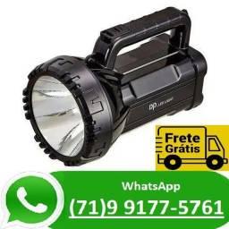Lanterna Holofote Led Recarregável 500 Metros Super Led (NOVO)