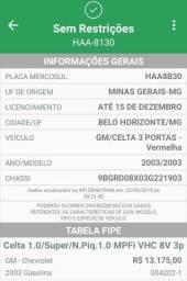 Título do anúncio: Vendo Celta 2003 - Cor vermelho