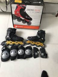 Patins oxer inline Speed 7000 n 41, com protetores