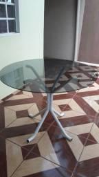 vendo mesa de vidro redonda
