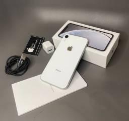 iPhone XR branco 128 GB seminovo, sem detalhes + 3 brindes
