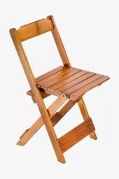 Cadeira de Madeira Dobrável - Boteco Bar Restaurante