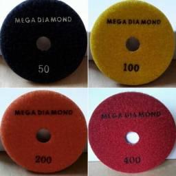 Lixas Ùmida Dágua Mega Diamond Grão 50 / 100 / 200 / 400 / 800 / 1500 / 3000