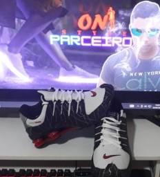 Tênis Nike Shox NZ Branco Preto