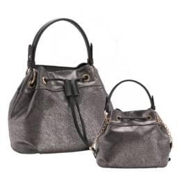 Bolsa Feminina Chenson Bucket Bag Prata Cg 82176