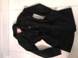 casaco preto veludo, ombro 38 cm, comprimento 72cm, busto 78 cm