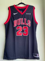 Regata NBA Chicago Bulls Preta NOVO