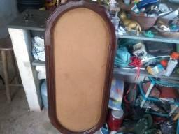 Título do anúncio: Moldura de Espelho em Madeira Pura - Antiga