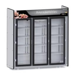 Balcão Expositor Frios e Laticínios Plus 3 Portas (ALEF)