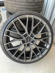 Título do anúncio: Roda aro 19 bar 5x112 graffite e pneus
