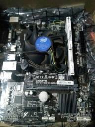Kit g3940 7 geração placa mãe h110 8 gb ram