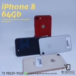 iPhone 8 Gold, Silver, Red / 90 dias de Garantia