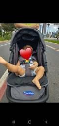 Carrinho de bebê e bebê conforto+ cadeira de alimentação (combo)
