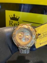 Título do anúncio: Invicta Thunderbolt banhado a ouro 18k c/ garantia