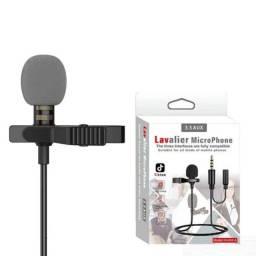 Microfone de Lapela com Auxiliar para Fone Model JH-043-A