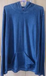 Camisa Rip Manga longa Azul Marinho NOVA
