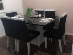Pronta Entrega - Mesa de Jantar Barbára com Cadeiras Paloma