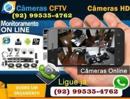 Câmeras de segurança e interfones