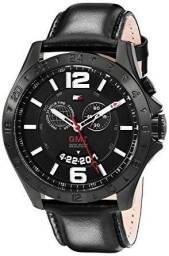 Relógio tommy hilfiger pulseira em couro com cronografo
