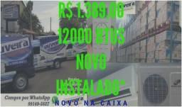 Preço de fábrica já instalado Ar condicionado split 9000 até 30000btus Novos