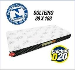 Colchão De Solteiro D20 R$199,00 - 88 x 188 x 12
